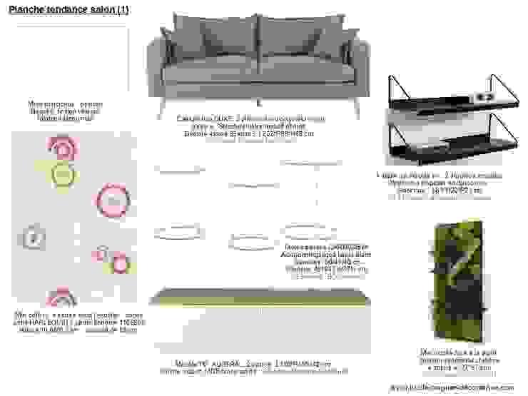 Planches tendances (projets divers) Salon scandinave par Lucile Tréguer, décoratrice d'intérieur Scandinave