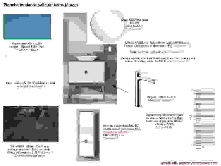 Planches tendances (projets divers) Salle de bain moderne par Lucile Tréguer, décoratrice d'intérieur Moderne