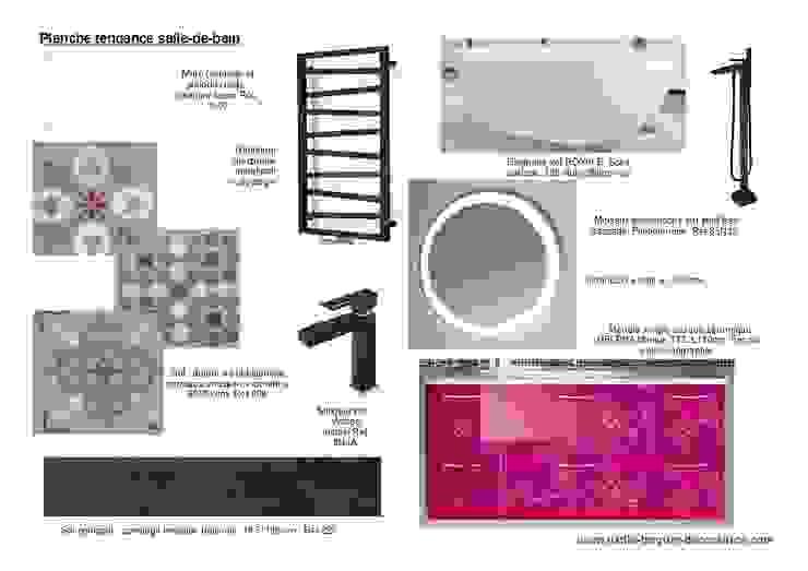 Planches tendances (projets divers) Salle de bain originale par Lucile Tréguer, décoratrice d'intérieur Éclectique