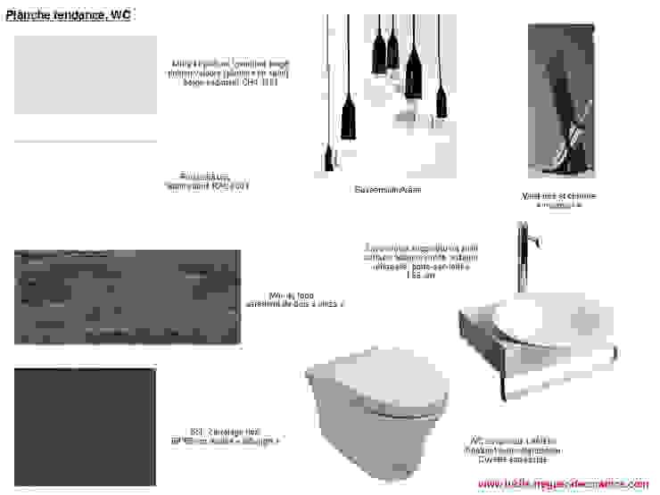 WC Salle de bain moderne par Lucile Tréguer, décoratrice d'intérieur Moderne