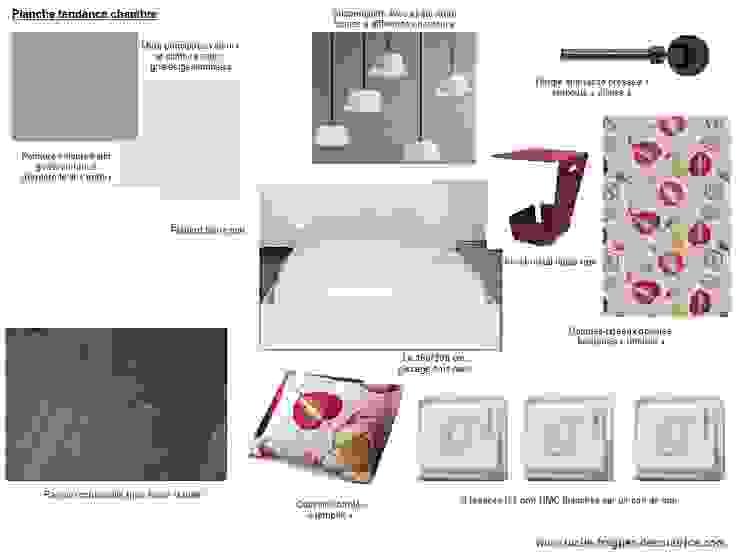 Planches tendances (projets divers) Chambre originale par Lucile Tréguer, décoratrice d'intérieur Éclectique
