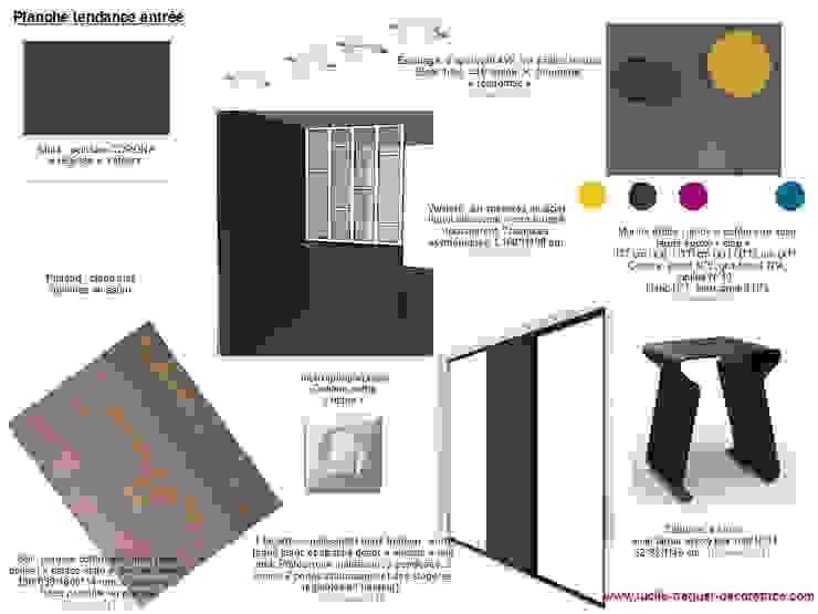 Planches tendances (projets divers) Couloir, entrée, escaliers industriels par Lucile Tréguer, décoratrice d'intérieur Industriel