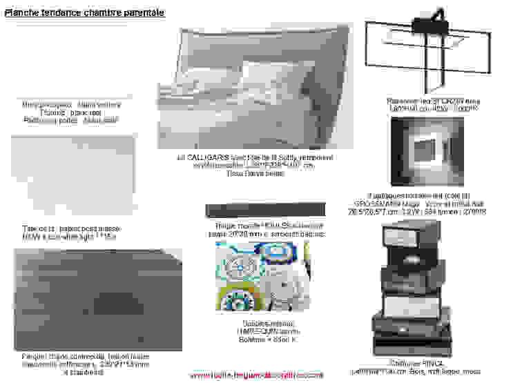 Planches tendances (projets divers) Chambre moderne par Lucile Tréguer, décoratrice d'intérieur Moderne