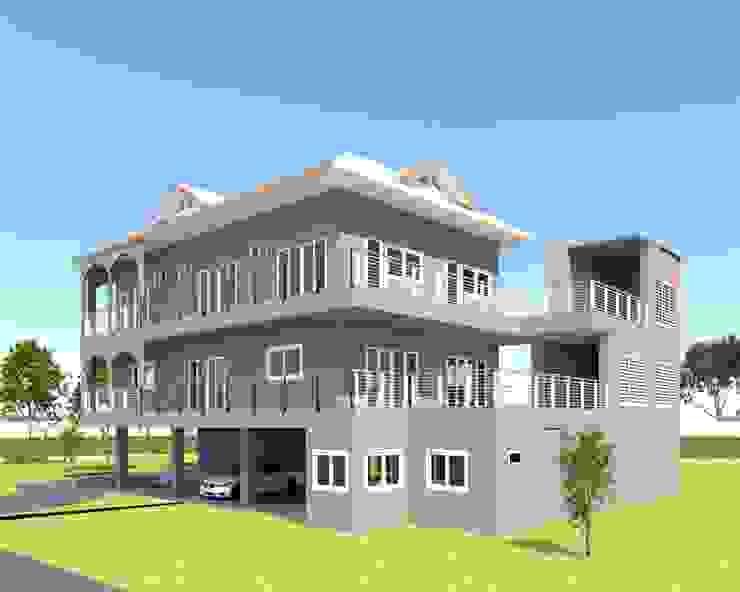 บ้านจำลอง 3D คุณตั้ม โดย บริษัท พี นัมเบอร์วัน ดีไซน์ แอนด์ คอนสตรัคชั่น จำกัด ผสมผสาน
