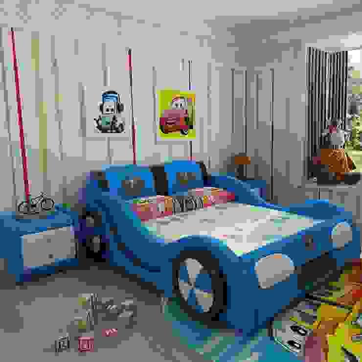 Mẫu Giường ô tô GTE101 màu xanh bởi Xưởng nội thất Thanh Hải