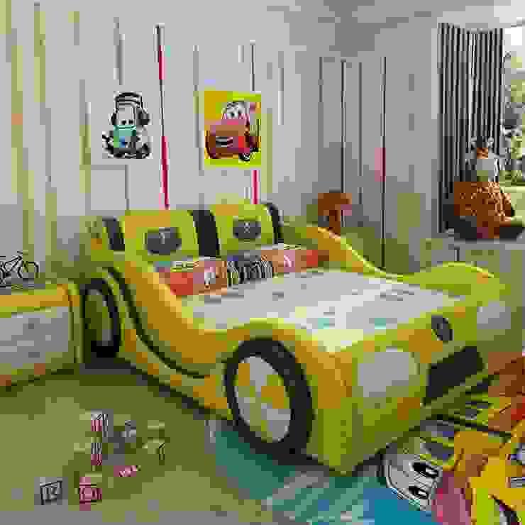 Mẫu Giường ô tô GTE101 màu vàng bởi Xưởng nội thất Thanh Hải