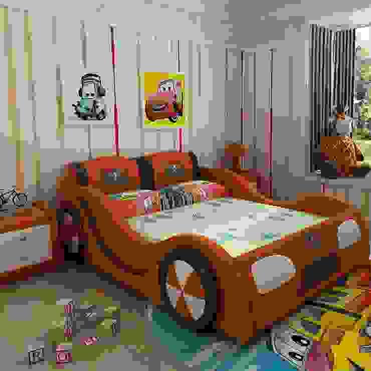 Mẫu Giường ô tô GTE101 màu cam bởi Xưởng nội thất Thanh Hải