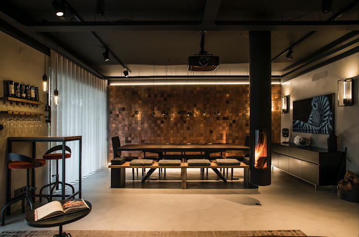 Industriële eetkamers van Santiago   Interior Design Studio Industrieel