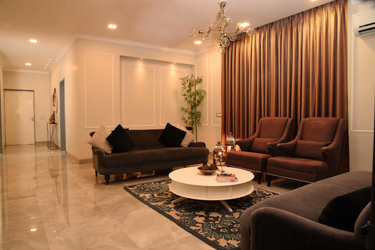 Living room- Apartment on Golf course extension road, Gurugram The Workroom Modern living room