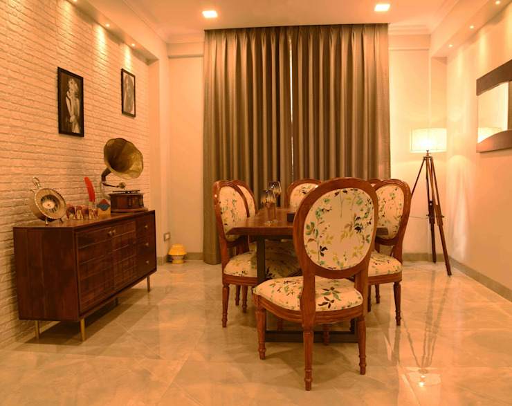 Dining room- Apartment on Golf course extension road, Gurugram The Workroom Modern dining room