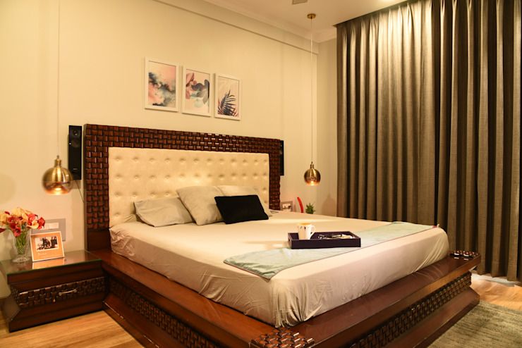 Bedroom- Apartment on Golf course extension road, Gurugram The Workroom Modern style bedroom