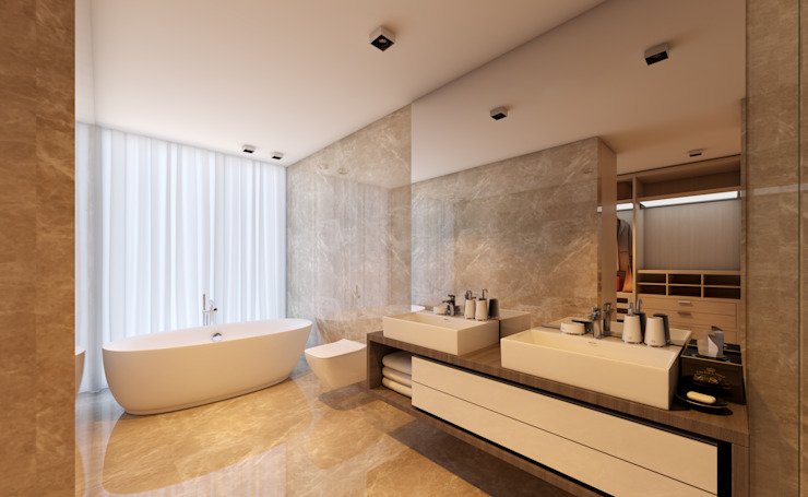 CASA MARQUES INTERIORES BathroomBathtubs & showers Ceramic