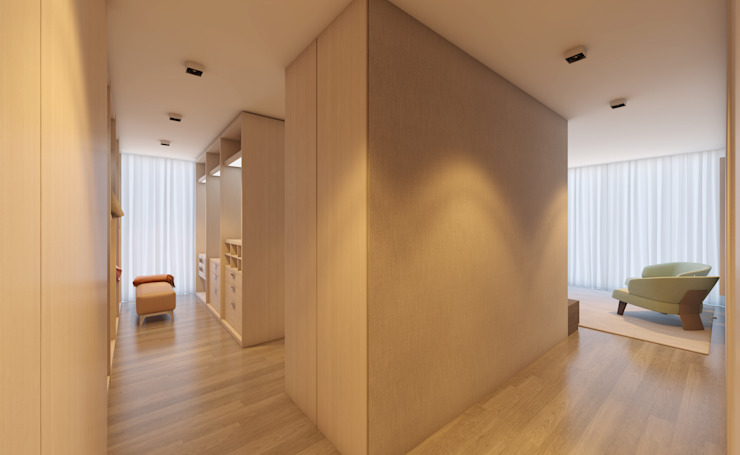 CASA MARQUES INTERIORES BedroomWardrobes & closets Wood