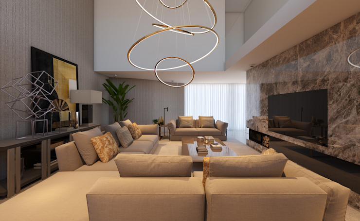 Modern living room by CASA MARQUES INTERIORES Modern Marble