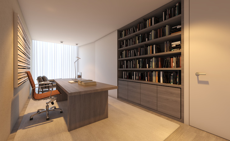 CASA MARQUES INTERIORES Study/officeCupboards & shelving Wood