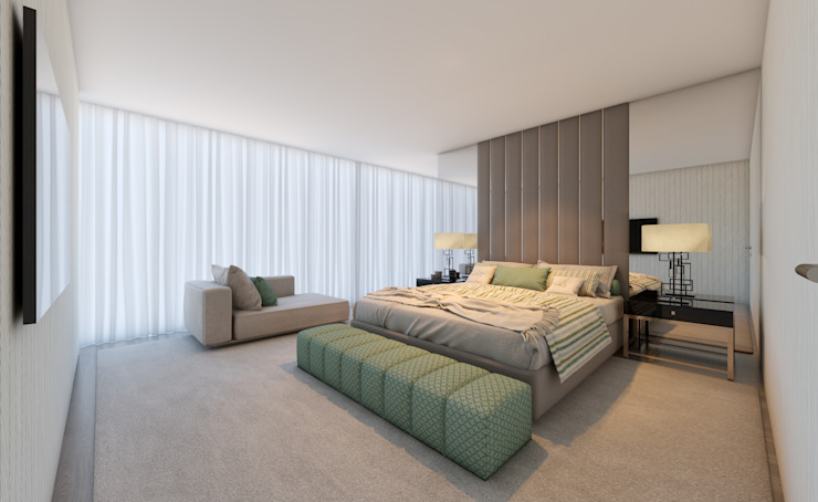 CASA MARQUES INTERIORES BedroomBeds & headboards Textile