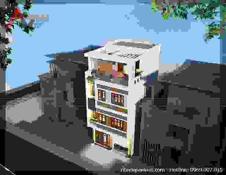 Mẫu thiết kế nhà lô 4 tầng mặt tiền 6m tại Hà Nội van An Viet Architect