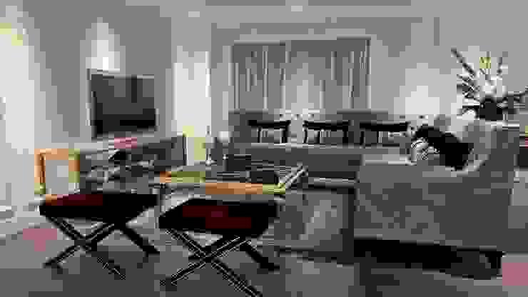 Sehpa kullanımı Modern Oturma Odası ANTE MİMARLIK Modern