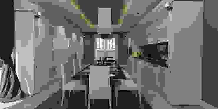 Mutfak tasarım ANTE MİMARLIK Mutfak üniteleri Beyaz