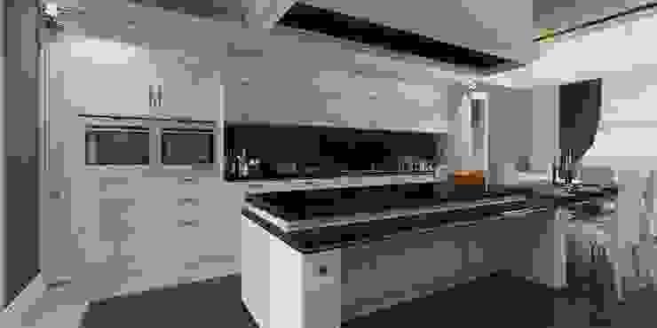 Ada mutfak ANTE MİMARLIK Mutfak üniteleri Beyaz