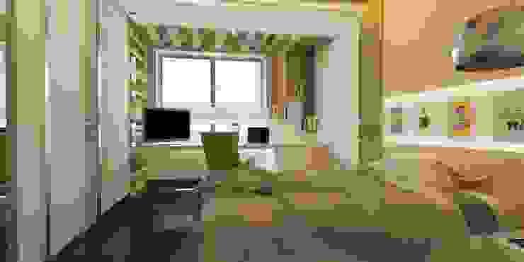 Çalışma masası ANTE MİMARLIK Erkek çocuk yatak odası Yeşil