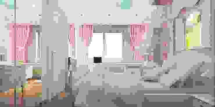 Çocuk odası ANTE MİMARLIK Kız çocuk yatak odası Pembe