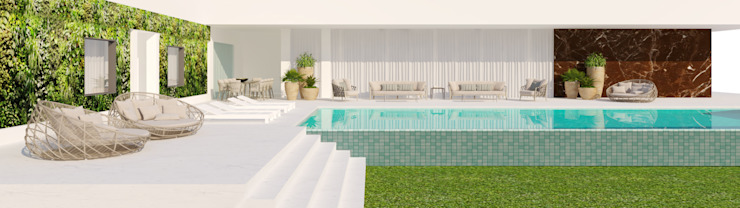 CASA MARQUES INTERIORES Garden Pool Slate
