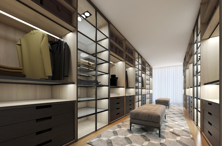 CASA MARQUES INTERIORES Dressing roomStorage Plywood