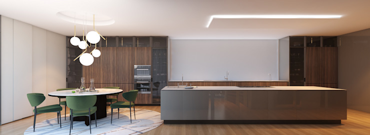 CASA MARQUES INTERIORES KitchenCabinets & shelves Wood