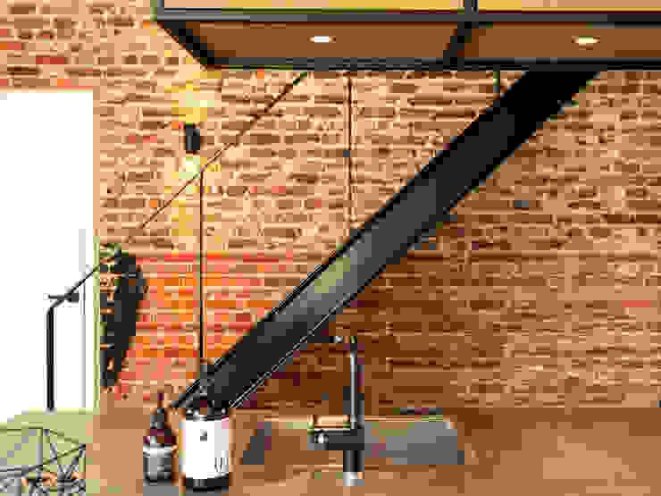 Stalen trap van De Nieuwe Context Industrieel IJzer / Staal