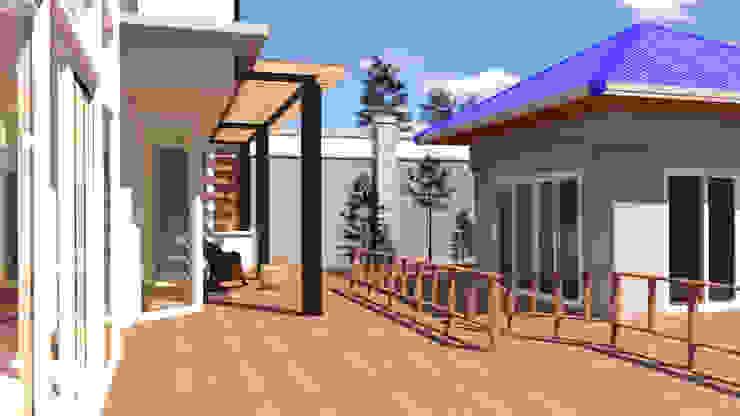 บ้านจำลอง 3D ตกแต่งบ้านหรู โดย บริษัท พี นัมเบอร์วัน ดีไซน์ แอนด์ คอนสตรัคชั่น จำกัด โมเดิร์น
