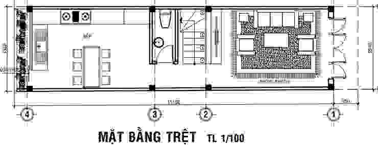 Tư Vấn Xây Nhà Phố 5 Tầng Diện Tích 42m2 Với Giá 1,1 Tỷ bởi Công ty Thiết Kế Xây Dựng Song Phát Hiện đại