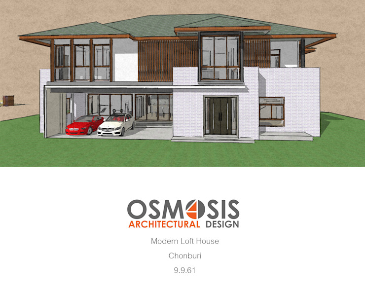 Modern Loft House โดย OSMOSIS Architectural Design โมเดิร์น คอนกรีต