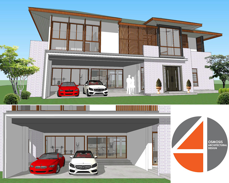 Modern Loft House โดย OSMOSIS Architectural Design