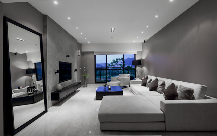 Livings de estilo moderno de 雅群空間設計 Moderno