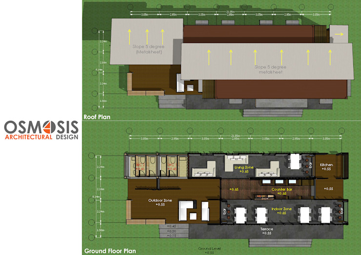Box Cafe Ver.1 โดย OSMOSIS Architectural Design