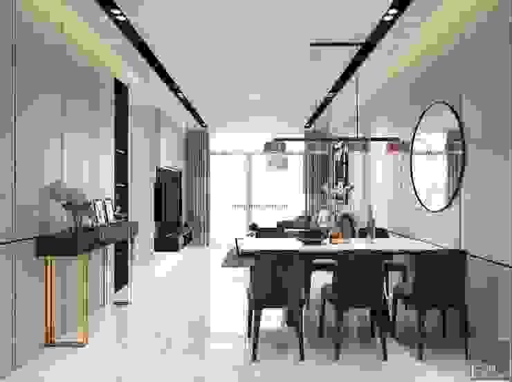 Thiết kế nội thất chung cư 2 phòng ngủ hiện đại Phòng ăn phong cách hiện đại bởi ICON INTERIOR Hiện đại