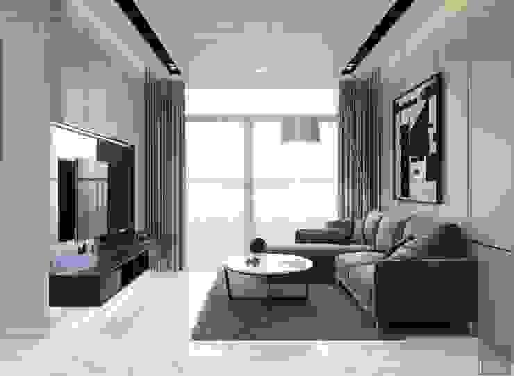 Thiết kế nội thất chung cư 2 phòng ngủ hiện đại bởi ICON INTERIOR Hiện đại