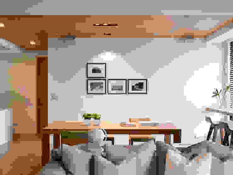 簡單明亮的餐廳 Fertility Design 豐聚空間設計 Modern Dining Room White