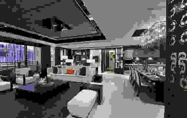 帝品苑 Modern living room by 雅群空間設計 Modern