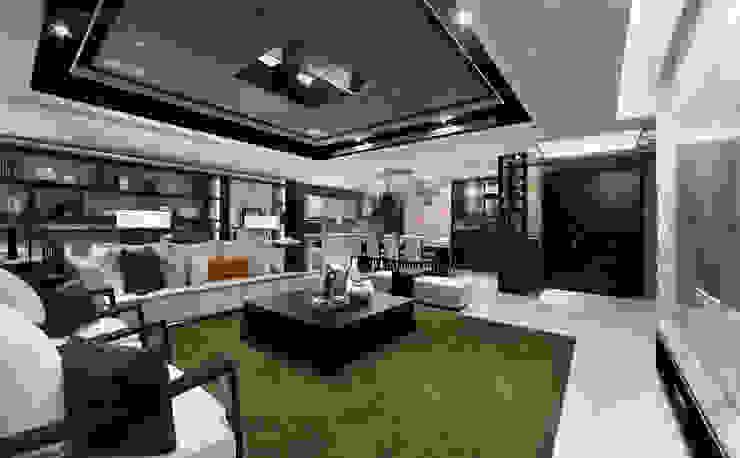 Moderne woonkamers van 雅群空間設計 Modern