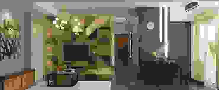 LUXURIOUS MASCULINE APARTMENT @ SEASON CITY, WEST JAKARTA Ruang Keluarga Modern Oleh PT. Dekorasi Hunian Indonesia (DHI) Modern