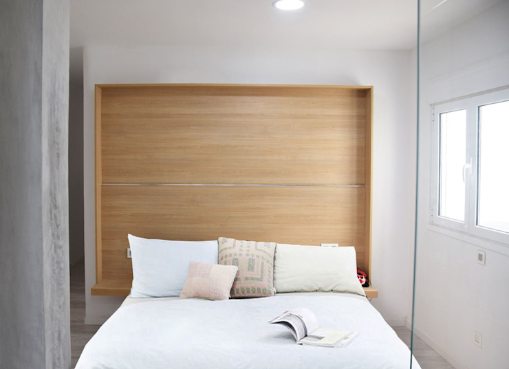 Minimalist bedroom by SP_Arquitectura Minimalist Wood Wood effect