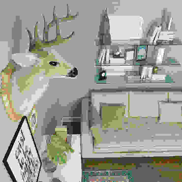 غرفه معيشة من EL Mazen For Finishes and Trims بحر أبيض متوسط خشب معالج Transparent
