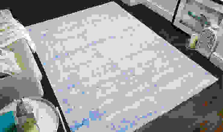 Tappeto ABSTRACT-LIGHT-BLUE di Webtappeti Moderno Cotone Rosso