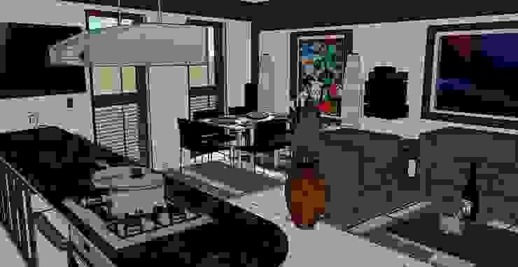 juan carlos milla miranda Living room Wood-Plastic Composite White
