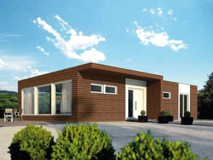 Casa modelo mediterráneo exclusivo casasfrau Casas prefabricadas Madera Marrón