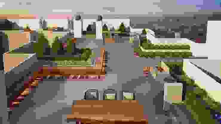 Zona de Parrillas Balcones y terrazas modernos de K'ANKA Moderno