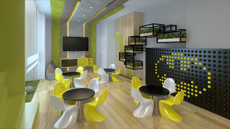 Modern style media rooms by K'ANKA Modern