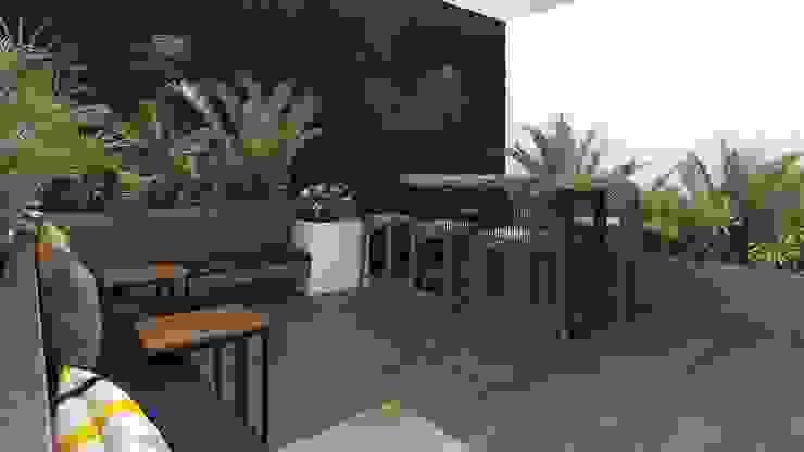 Terraza Co- Working K'ANKA Balcones y terrazas de estilo moderno
